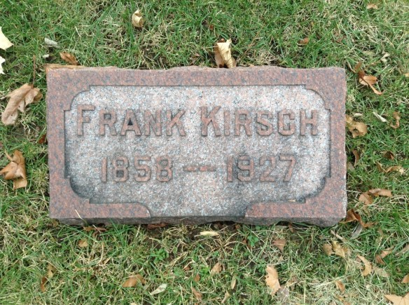 Frank Kirsch headstone