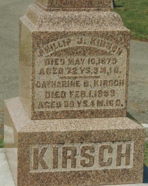 Philip Kirsch Catharine Barbara Lemmert stone