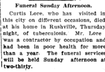 Curtis Lore funeral
