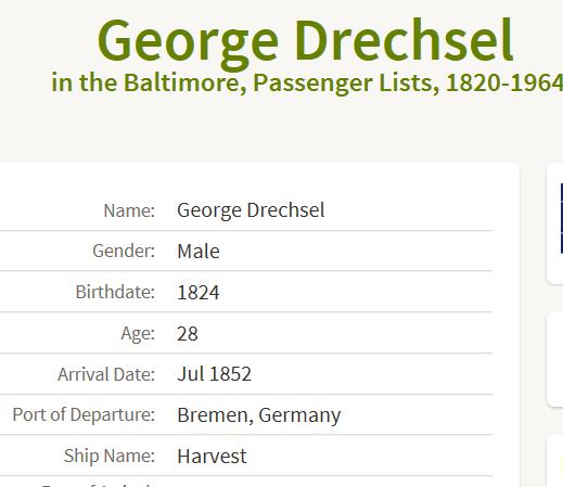 Drechsel passenger list crop