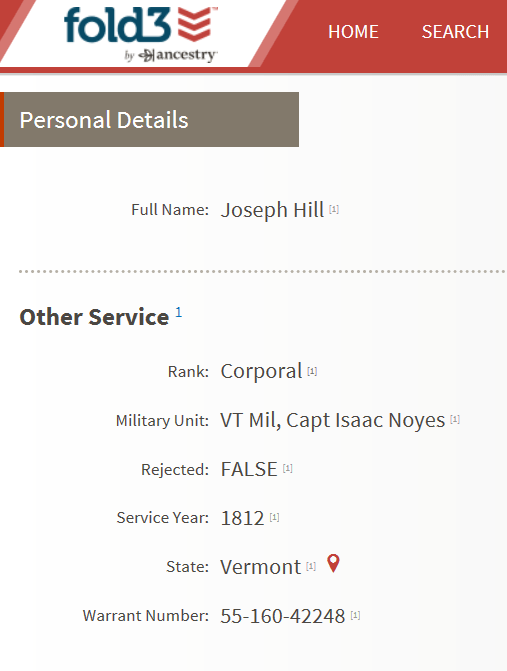 Joseph Hill 1812