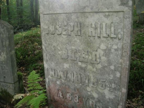 Joseph Hill d 1853