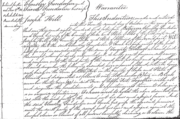 Joseph Hill Little Fort Deed