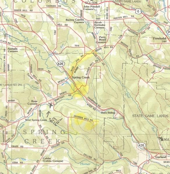 Spring Creek map