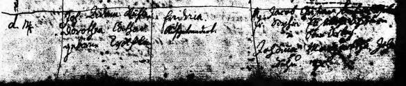 Fredericka Ruhle 1788 baptism