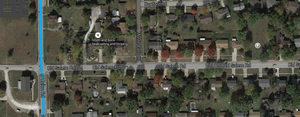 Lentz Happy Corner cemetery satellite