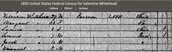 Margaret Lentz 1850 census