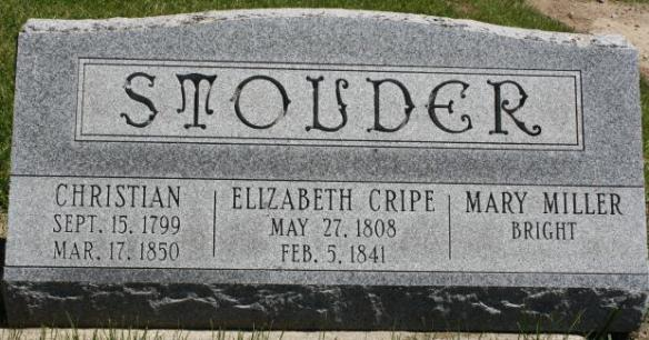 David Miller daughter Mary Stouder stone