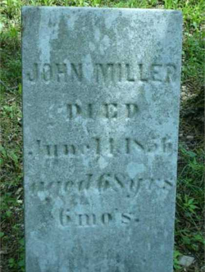 David Miller John Miller d 1856