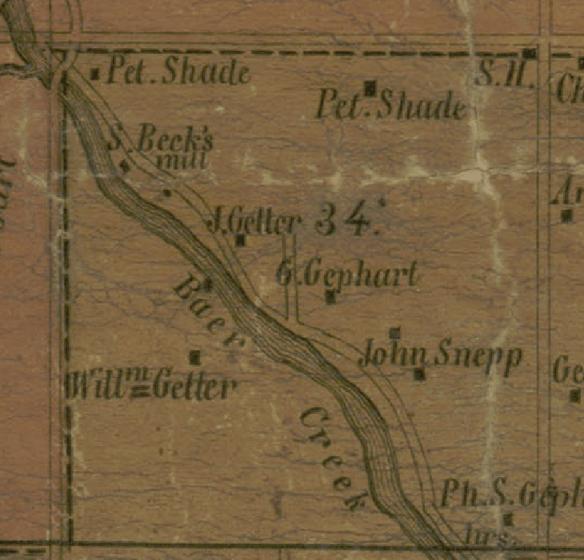 Daniel Miller 1851 Bear Creek