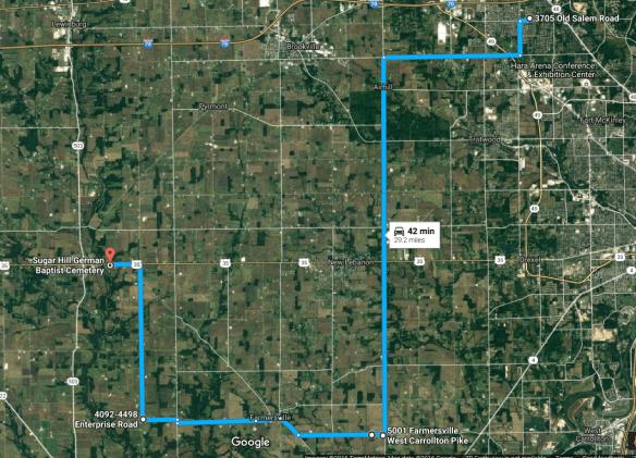 Daniel Miller entire route map