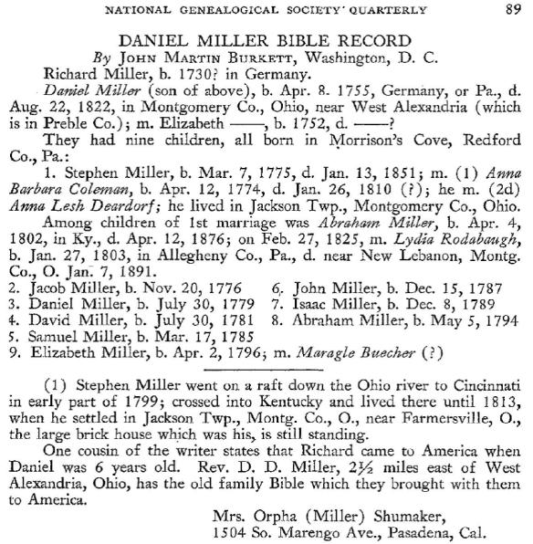 Daniel Miller NGS