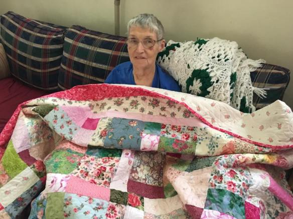 Mary with quilt