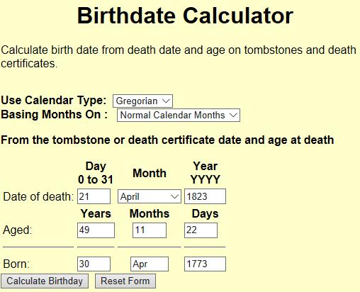 Margaretha Koehler birth calculator