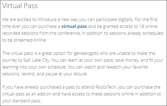 Rootstech 2019 Virtual Pass