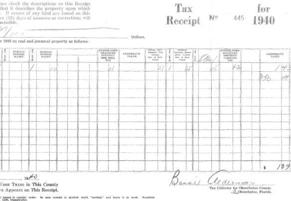 Nora Kirsch Lore McCormack tax receipt page 2