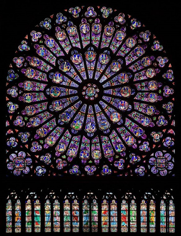 Notre Dame rose windows