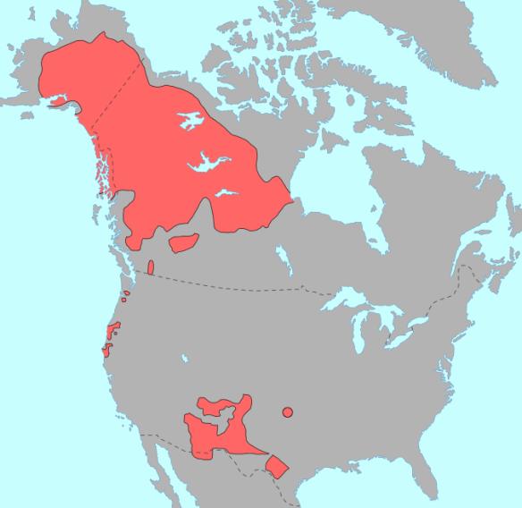 Athabascan language map