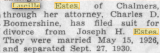 Joe Estes 1940