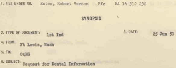 Robert Vernon Estes record 9