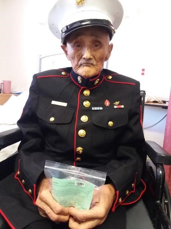 Veteran USMC William Tully Brown, Navajo Code Talker