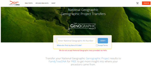 Family Tree DNA Genographic transfer