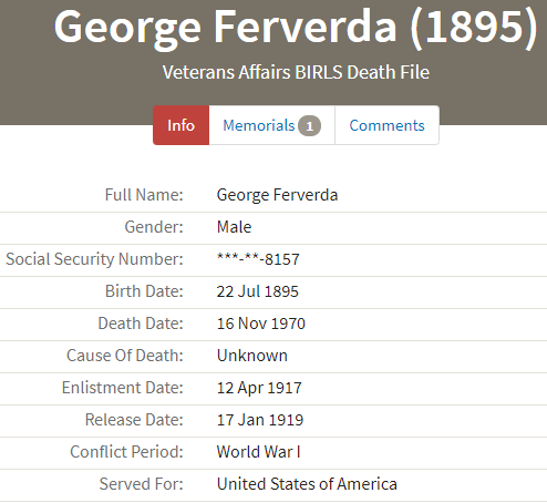 Hiram Ferverda 1917 George volunteer.png