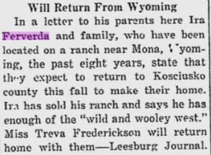 Hiram Ferverda 1917 Wyoming return.png