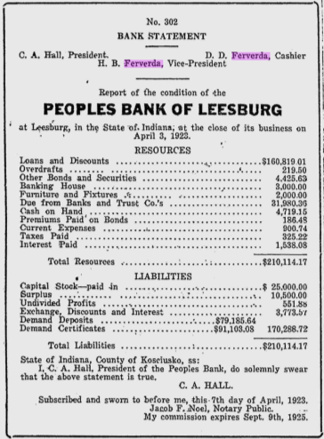 Hiram Ferverda 1923 bank 2.png
