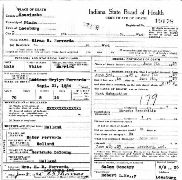 Hiram Ferverda death certificate.png