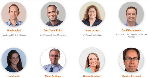 MyHeritage LIVE Amsterdam speakers