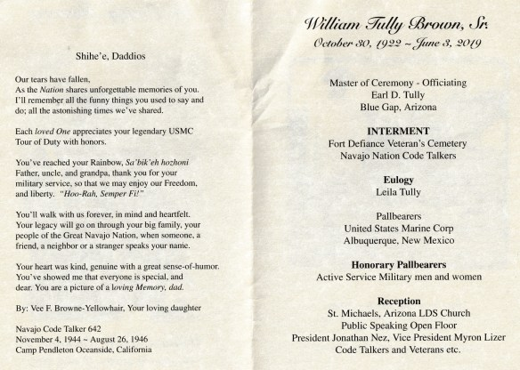 William Brown funeral brochure 2