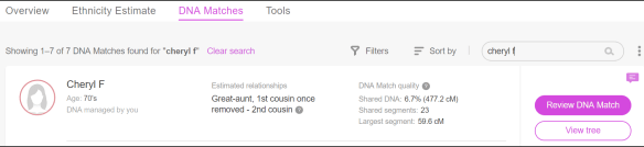 First Steps MyHeritage matches