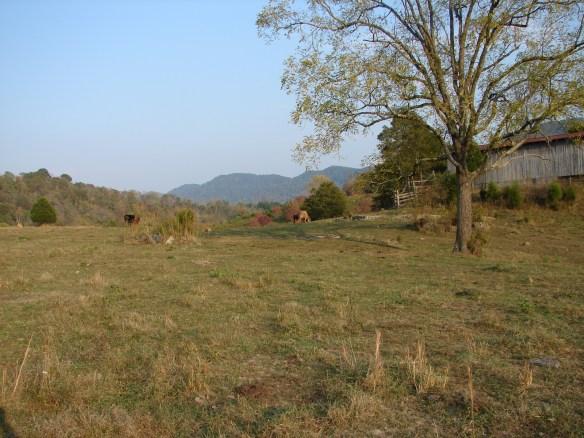 McDowell Cemetery at left by barn.jpg