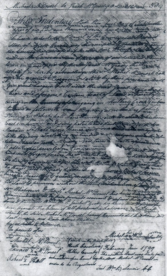 Michael McDowell 1799 deed to McGrady (2).jpg