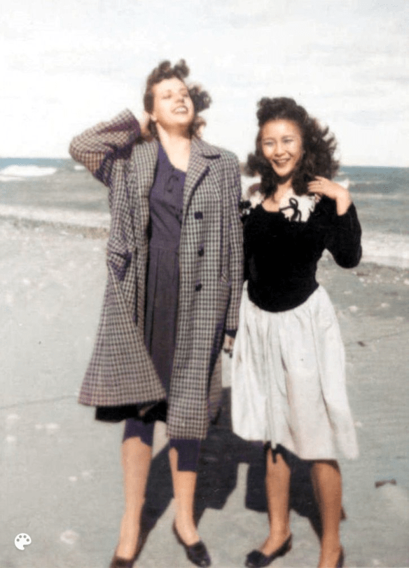 Mother and Mary Tan Hai colorized