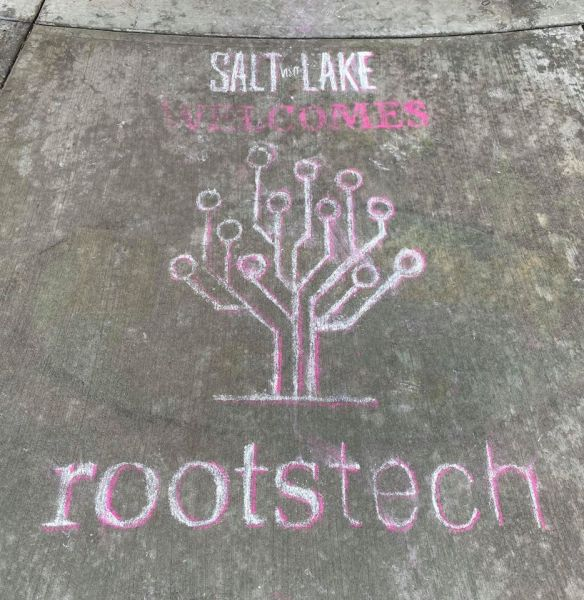Rootstech 2020 chalk drawing