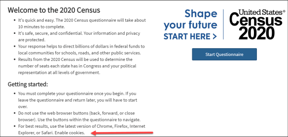 census 2020 welcome