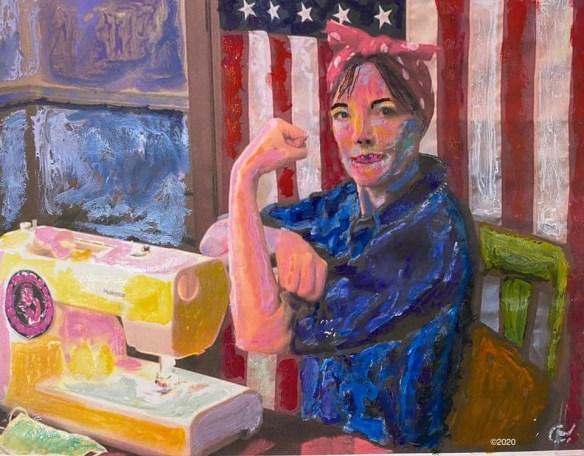Pandemic Rosie painting