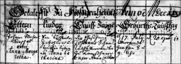 Kirsch Anna Catharina 1735