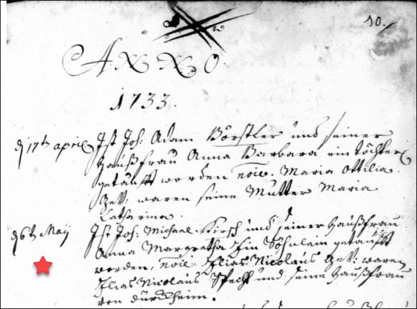 Kirsch Elias Nicolaus 1733