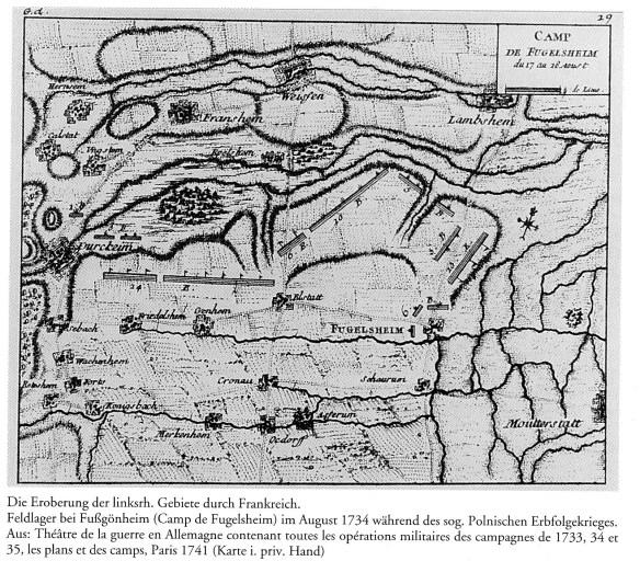 Kirsch Fussgoenheim 1734 field camp