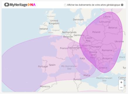 Les grandes masses d'origines ethniques établies par MyHeritage