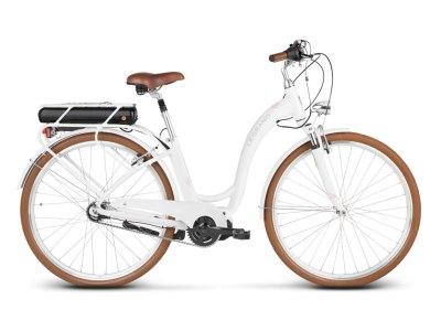 Bicicleta elétrica Le Grand eLille 3 Branco-Rosa