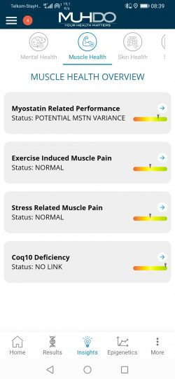 App Muscle Health Overview