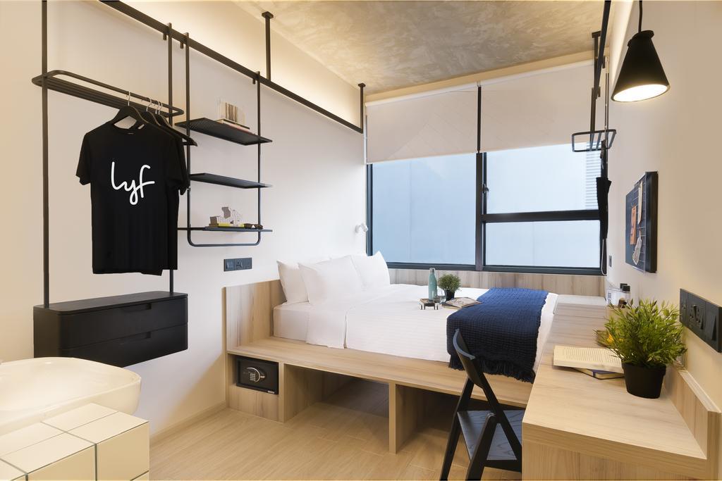 lyf Funan co-working, co-living hotel Singapore