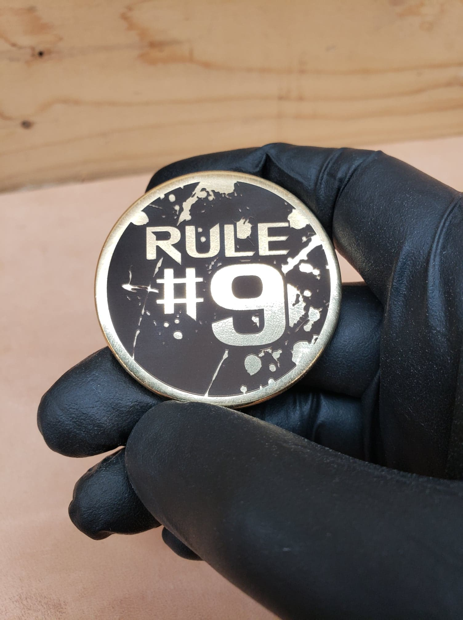 Rule #9 Brass Coin