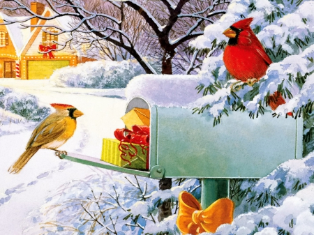 Mailbox Treasures Winter Amp Nature Background Wallpapers