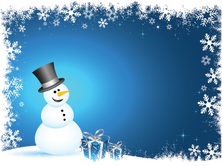 Holiday Snowman 3D And CG Amp Abstract Background