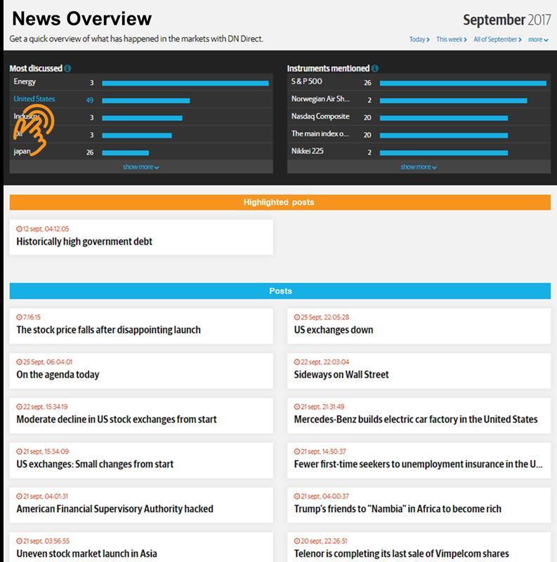 News Overview of live blog posts